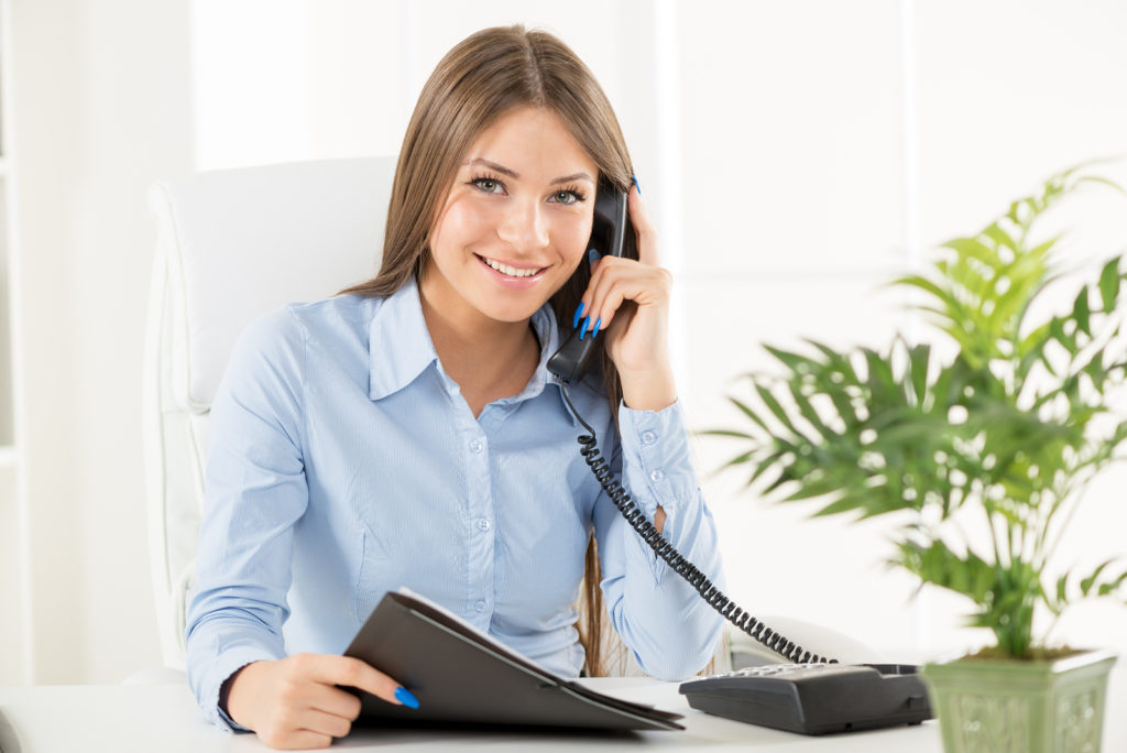 Caregiver taking calls in Greenville, SC